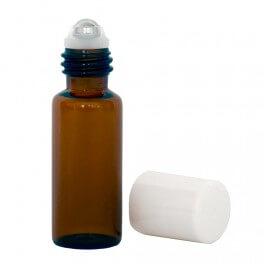 Roll-on en verre ambré et bille inox 5 ml